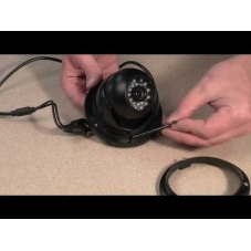 Small open faced vandal dome CCTV camera with fixed lens