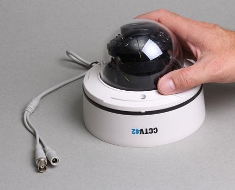 Vandal Dome Camera 4-9mm Lens Image