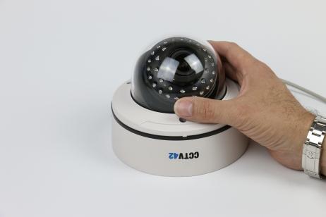 Vandal Dome Camera 2.8-12mm Lens Image